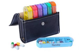 Xinhome Weekly Pill Organizer with Case - gifts for older people