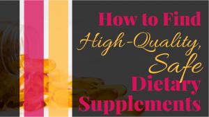 safe dietary supplements - banner