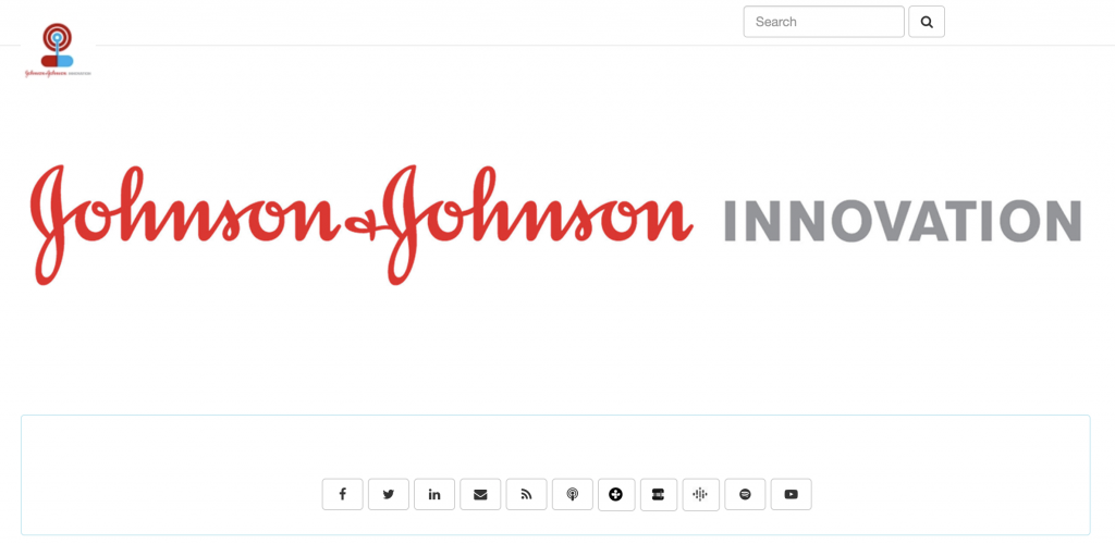 healthcare content marketing example - j&j innovation podcast